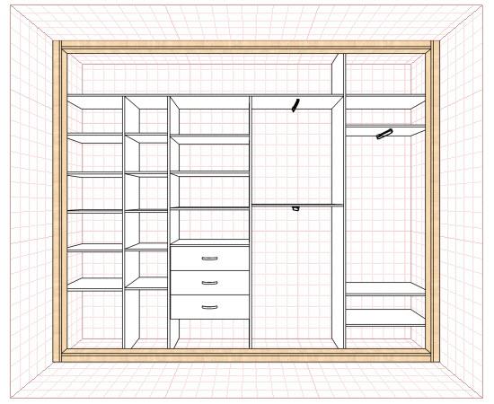 Схема: пустой шкаф для наполнения