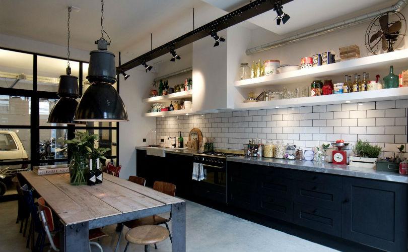 кухня в современном стиле Лофт