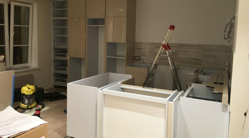 фото - шкафы на кухне перекрасить