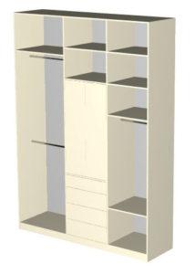 Макет правого шкафа для гардеробной Микэвол