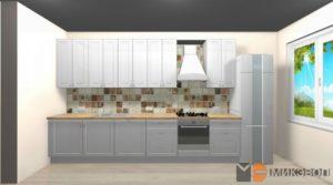 3D проект кухни в Сампо