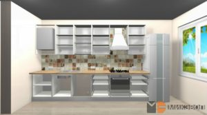 Кухня в ЖК Сампо без фасадов