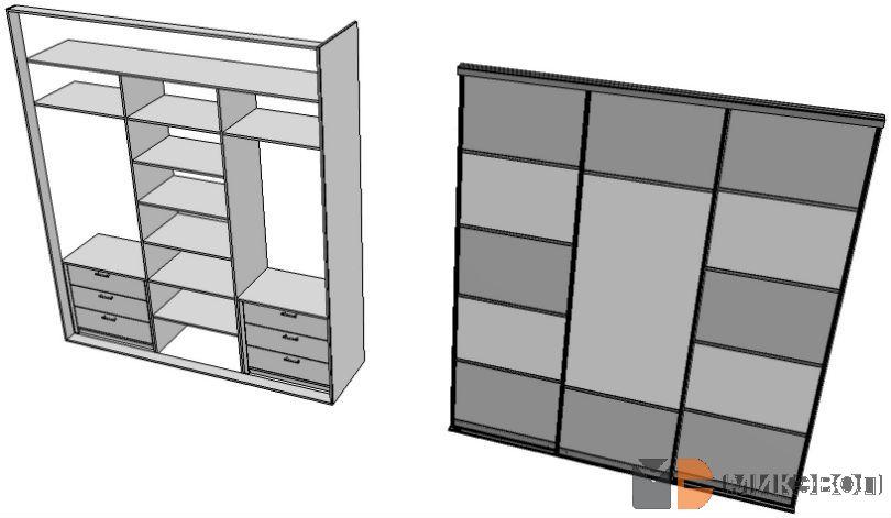 Шкаф-купе от Микэвол, схема