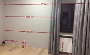 Замер комнаты перед изготовлением