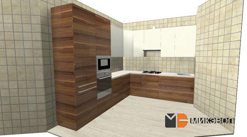 3D проект угловой кухни