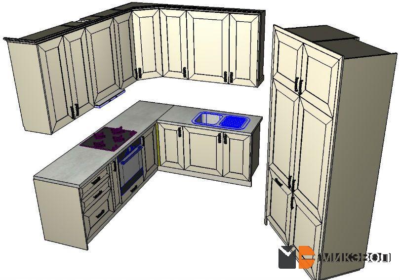 Иллюстрации со всеми частями кухни