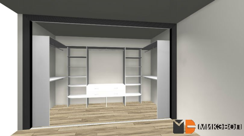 Гардеробная комната, 3Д фото