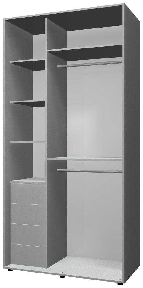 Готовый шкаф Н1 цвета металлик