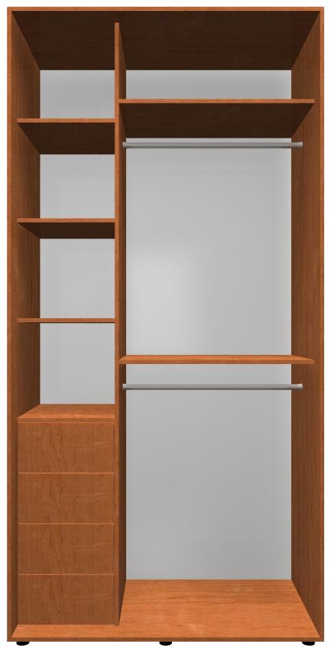 Готовый шкаф H1, ольха