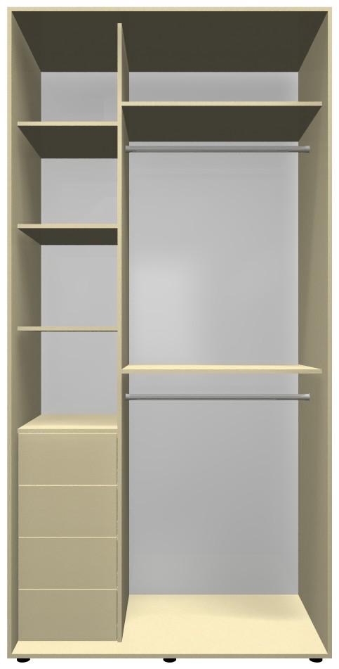 Готовый шкаф H1, цвета ваниль