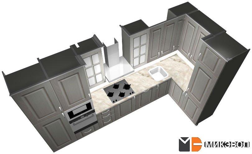 3Д проект кухни в Сампо