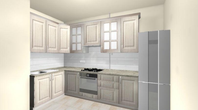 3Д проект для кухня в девятиэтажке