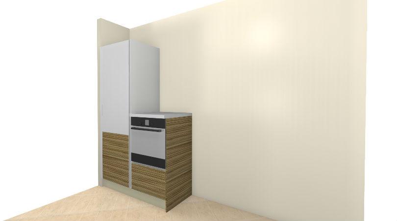 Встроенный холодильник и духовка на 3д фото