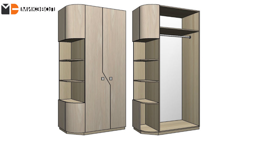 Нестандартный шкаф в прихожую для квартиры в ЖК Сампо