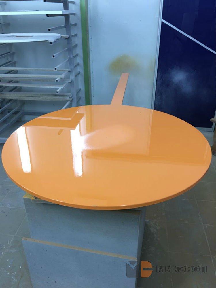 Фото: покраска изделий круглой формы
