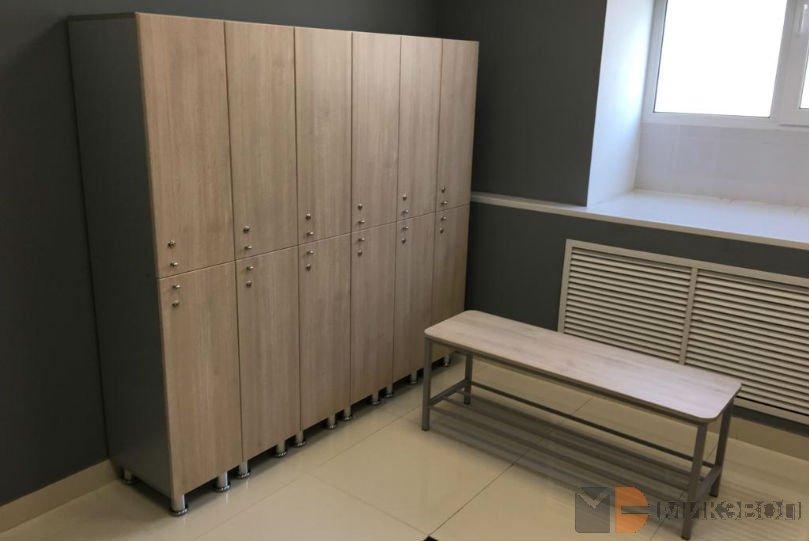 Двух секционные шкафчики в раздевалку