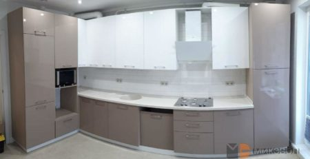 Кухня цвета капучино для ЖК Сампо фото