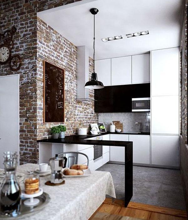 Кухня на заказ в стиле лофт фото