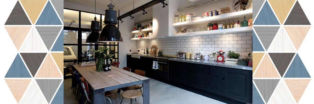 Кухни в стиле лофт на заказ Микэвол