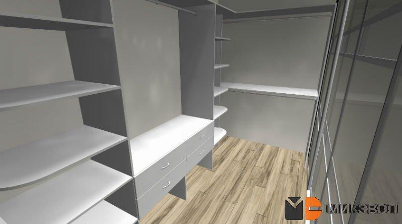 Наполнение для гардеробной комнаты с дверями купе