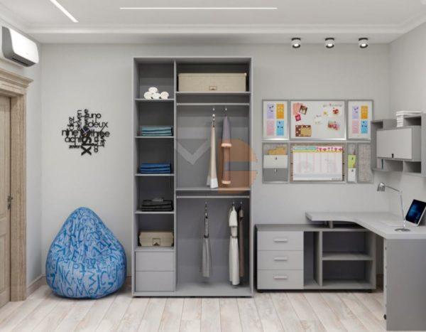 Готовый шкаф H7 без дверей