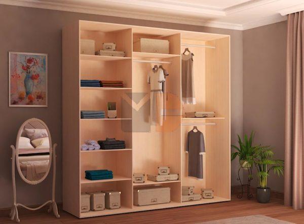 Готовый шкаф H3-1 без дверей