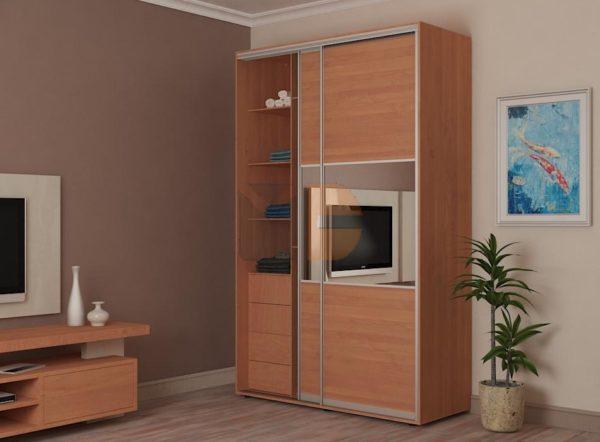 Готовый шкаф Н5 с одной открытой створкой