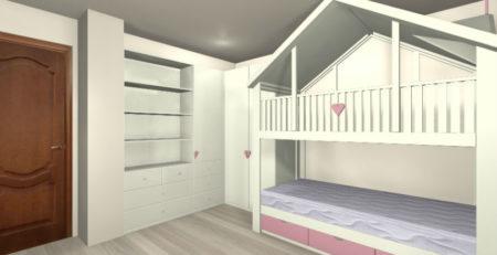 Мебель в детскую комнату 3Д фото