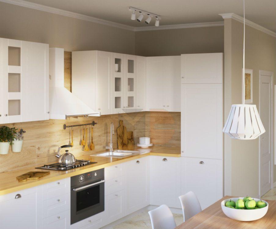 Кухня Скандинавия white
