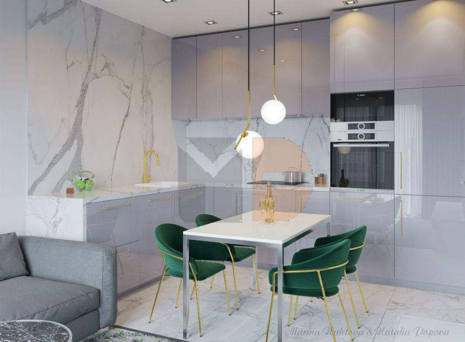 Адель - кухня на заказ от Микэвол стиль модерн