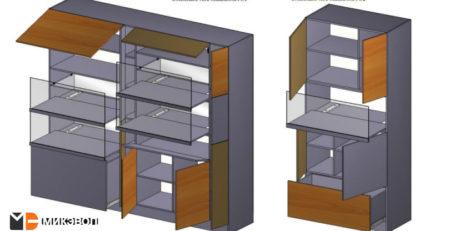 Два стеллажа в детскую комнату